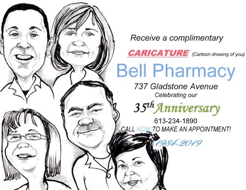 Bell Pharmacy Caricature